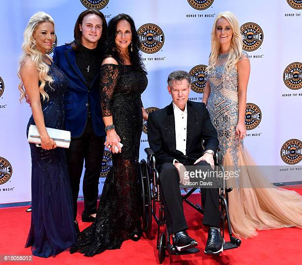 Inductee Randy Travis and guests arrive at the 2016 Medallion Ceremony at the Country Music Hall of Fame and Museum on October 16 2016 in Nashville...