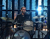 Inductee Ringo Starr performs onstage during the 30th Annual Rock And Roll Hall Of Fame Induction Ceremony at Public Hall on April 18 2015 in...