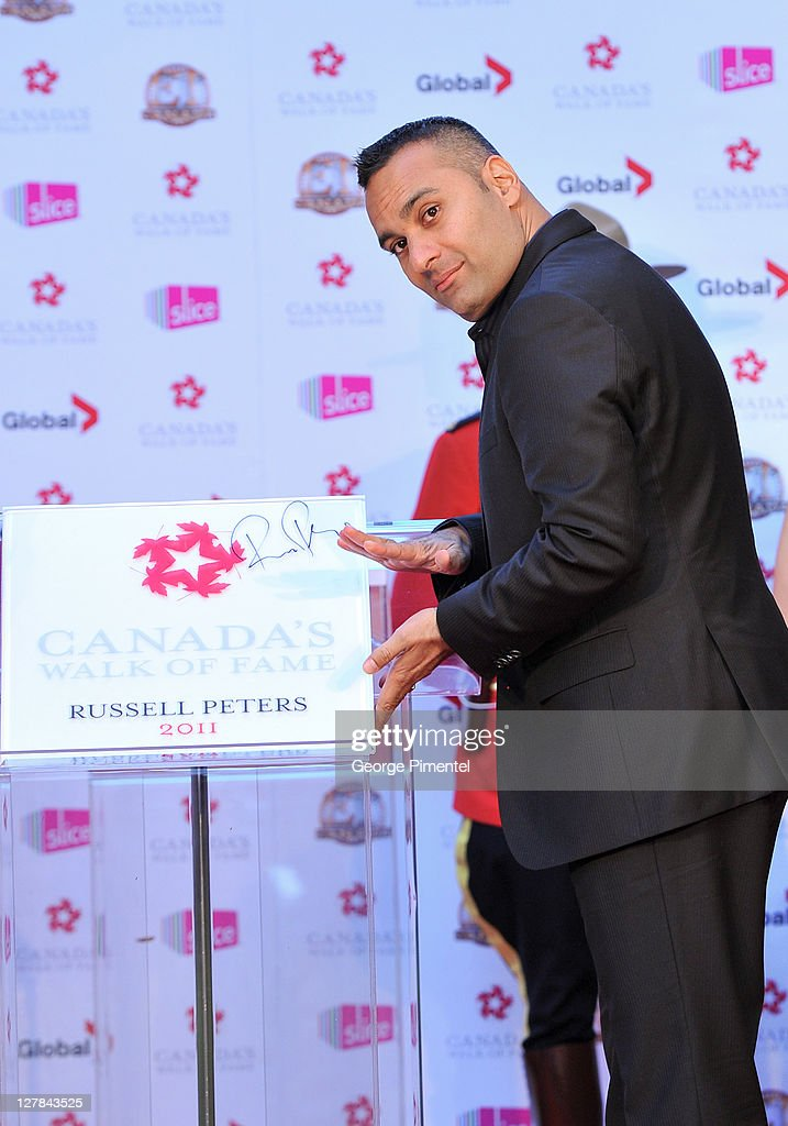 Inductee Russell Peters attends the 2011 Canada Walk of Fame at The Elgin Theatre on October 1, 2011 in Toronto, Canada.