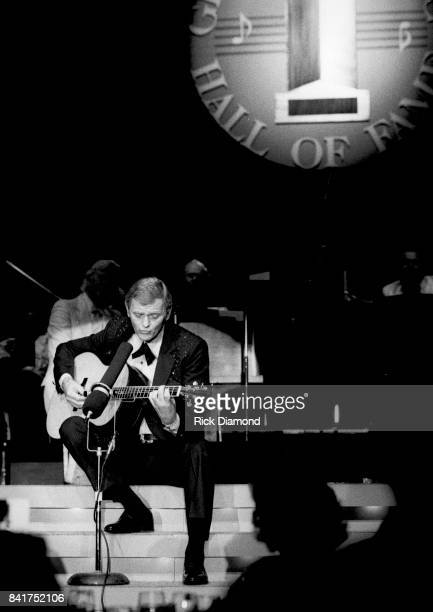 Inductee Singer/Songwriter Jerry Reed performs at The Georgia Music Hall of Fame at The Georgia World Congress Center in Atlanta Georgia September 19...