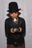 Inductee Singersongwriter Linda Perry poses backstage at the Songwriters Hall Of Fame 46th Annual Induction And Awards at Marriott Marquis Hotel on...