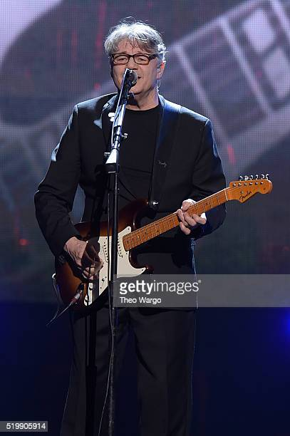 Inductee Steve Miller performs at the 31st Annual Rock And Roll Hall Of Fame Induction Ceremony at Barclays Center on April 8 2016 in New York City