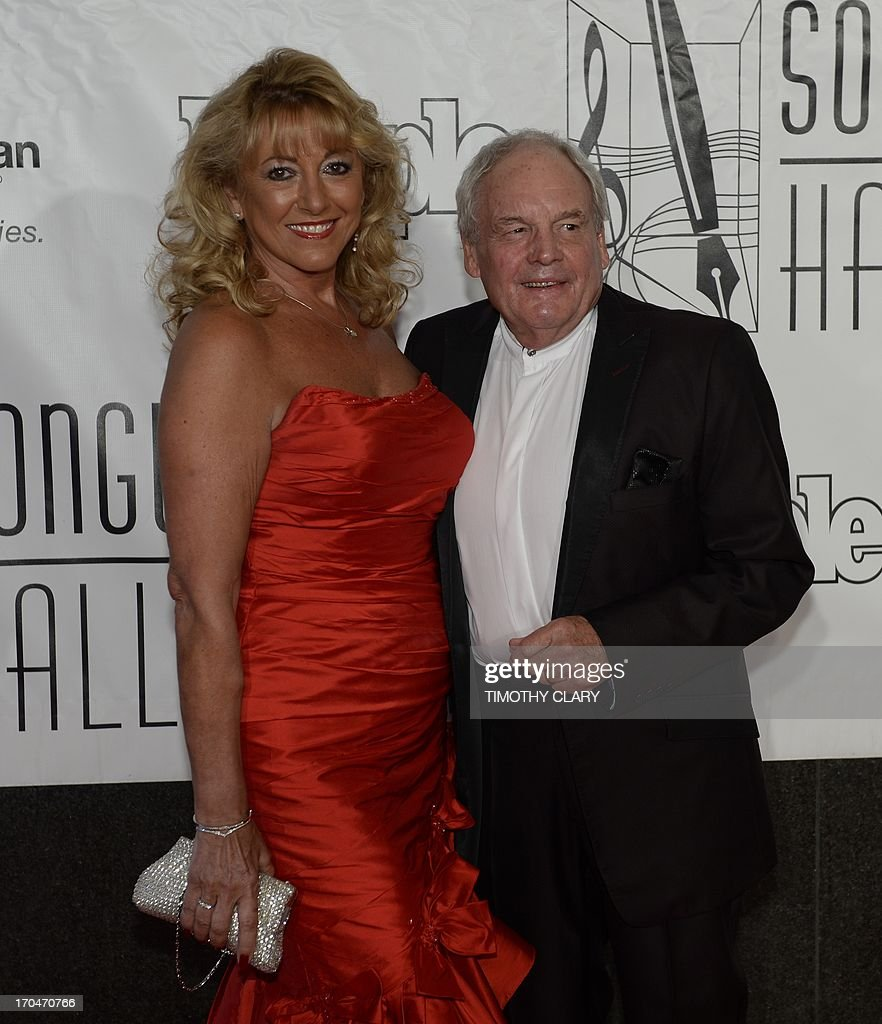 Inductee Tony Hatch and Maggie Hatch arrive for the Songwriters Hall of Fame 2013 Annual Induction and Awards Ceremony June 13, 2013 in New York. The Songwriters Hall of Fame celebrates songwriters, educates the public with regard to their achievements, and produces a spectrum of professional programs devoted to the development of new songwriting talent through workshops, showcases and scholarships.