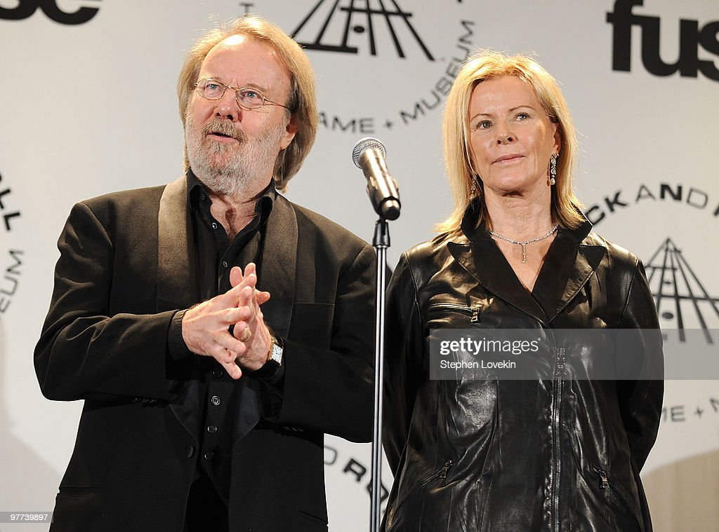 Inductees Benny Andersson and Anni-Frid Prinsessan Reuss of ABBA attend the 25th Annual Rock And Roll Hall of Fame Induction Ceremony at the Waldorf=Astoria on March 15, 2010 in New York City.