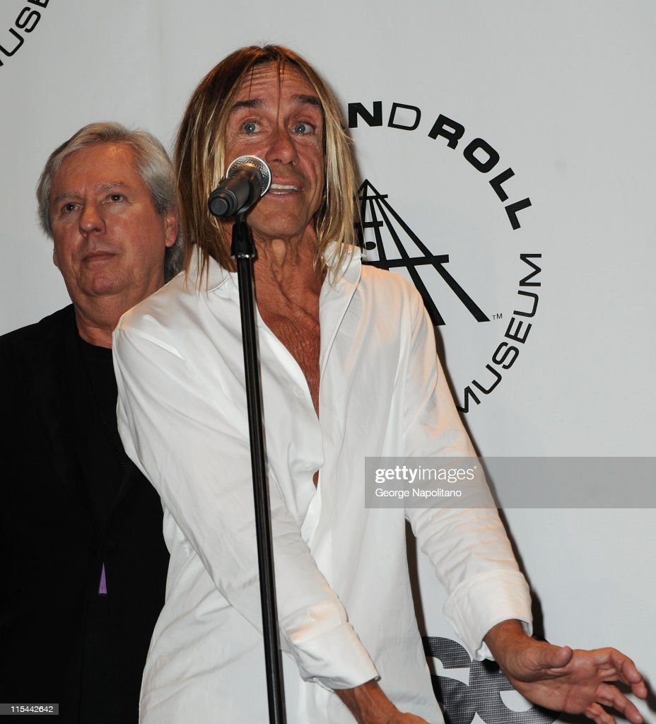 Inductees James Williamson and Iggy Pop of The Stooges attend the 25th Annual Rock And Roll Hall Of Fame Induction Ceremony at the Waldorf=Astoria on March 15, 2010 in New York City.