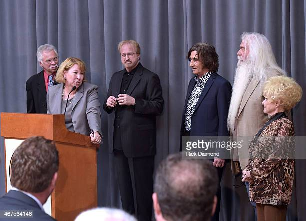Inductees Joe Bonsall Duane Allen Richard Sterban and William Lee Golden The Oak Ridge Boys Sarah Trahern CMA/CEO and Country Rock Roll Hall of Fame...