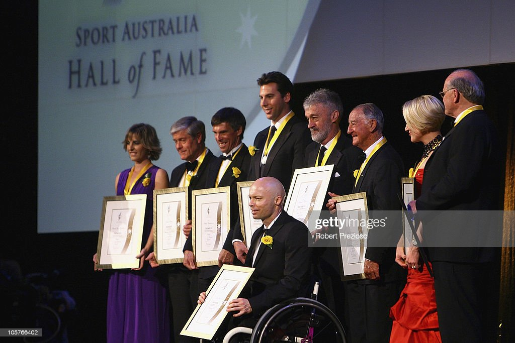 Inductees pose during the Sport Australia Hall of Fame at Crown Casino on October 20, 2010 in Melbourne, Australia.