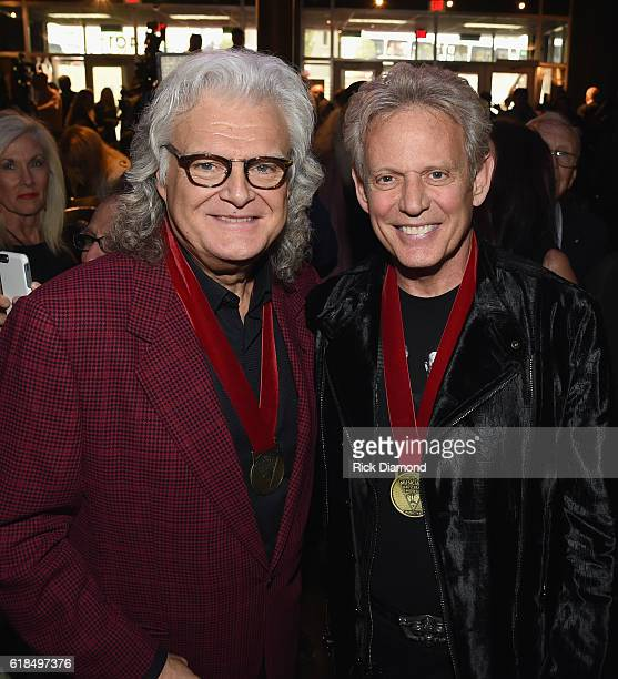 Inductees Ricky Skaggs and Don Felder attend the Musicians Hall Of Fame 2016 Induction Ceremony Show at Nashville Municipal Auditorium on October 26...