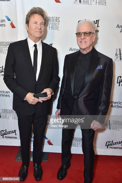 Inductees Robert Lamm and James Pankow attend the Songwriters Hall Of Fame 48th Annual Induction and Awards at New York Marriott Marquis Hotel on...