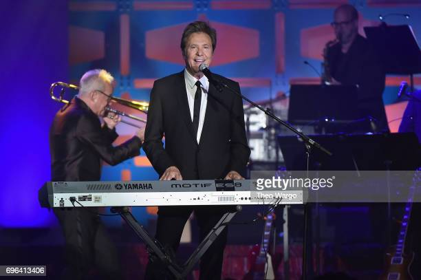 Inductees Robert Lamm and James Pankow perform onstage at the Songwriters Hall Of Fame 48th Annual Induction and Awards at New York Marriott Marquis...