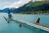 Industiral Pipe at the port of Seward delivering oil from Trans-Alaska Oil System
