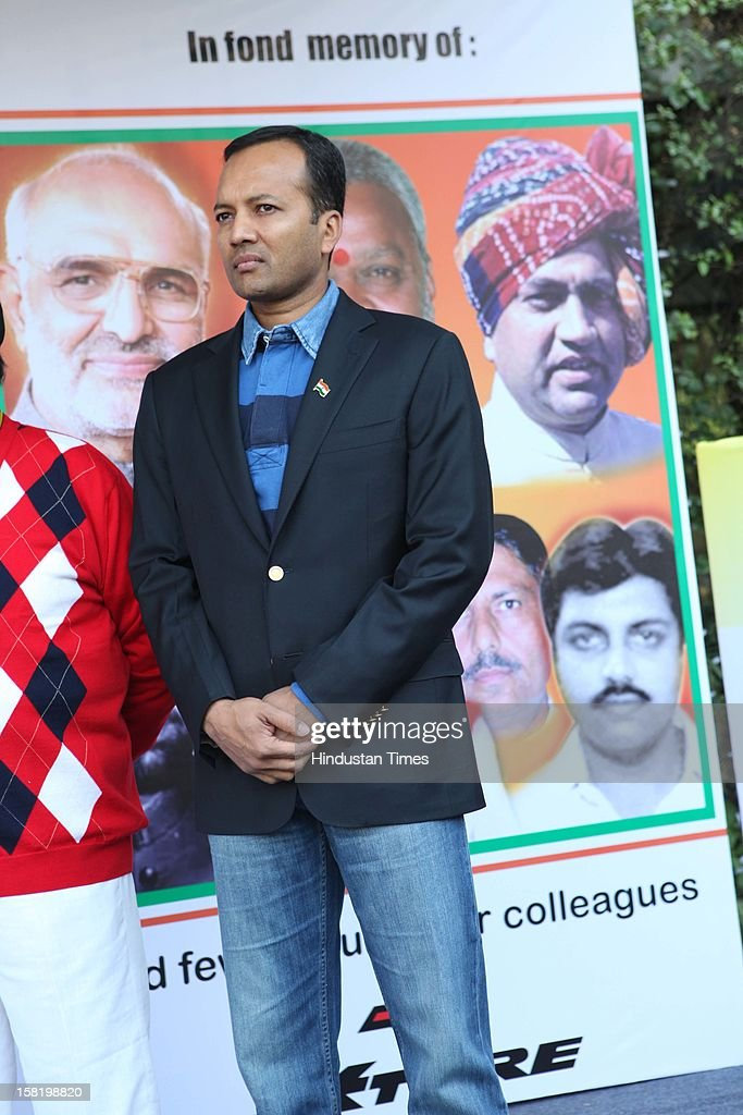 Industralist and politician Navin Jindal during Vinatage car rally organised by the JK Tyre and Constitution Club of India on December 8, 2012 in New Delhi, India.