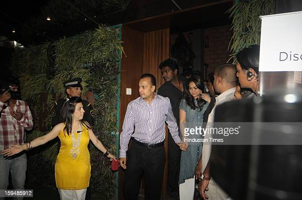 Industralist Anil Ambani with his wife Tina Ambani attending party hosted by Sunil Shetty and Mana Shetty on the launch of their new store R house on...