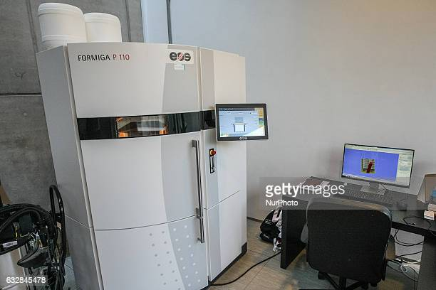 P 110 industrial 3D printer is seen in Pomeranian Science and Technology Park on 27 January 2017 in Gdynia Poland During the conference industry...