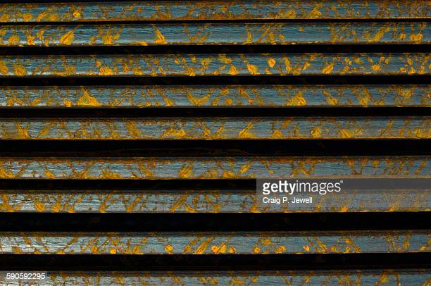 Industrial abstract: pile of steel plates