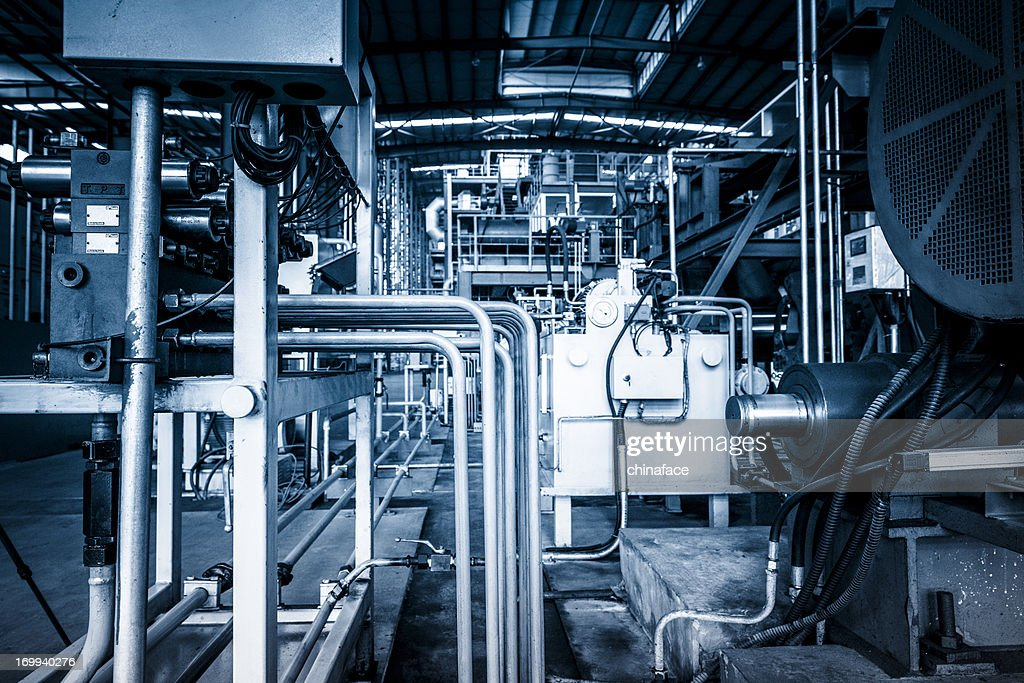 Industrial abstract---details of factory machine