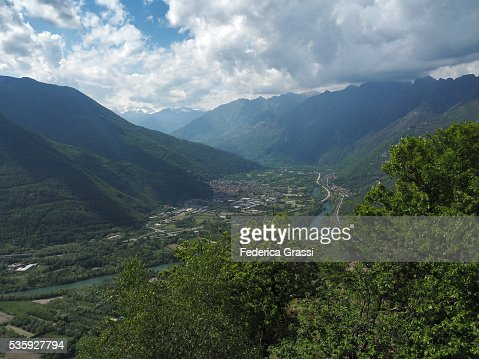 Industrial Area Of Ornavasso And Gravellona Toce In Northern Italy : Stock Photo