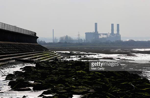 Industrial buildings besides the Severn Estuary at Avonmouth is seen from Severn Beach on February 18 2013 near Bristol England Bristol elected mayor...
