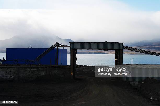 Industrial buildings in Barentsburg