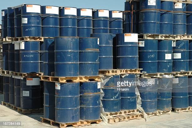 工業用化学薬品ドラム