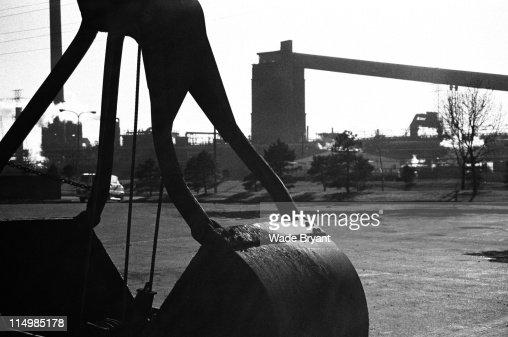 Industrial crane bucket : Foto de stock