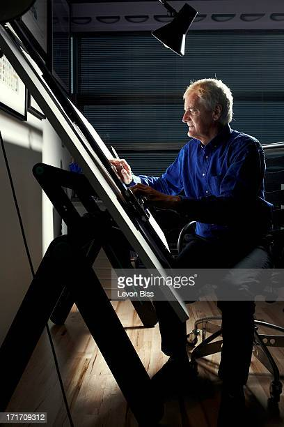 Industrial designer James Dyson is photographed for Wired magazine on October 8 2012 in Malmesbury England