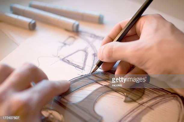 Industrial Designer scribbling