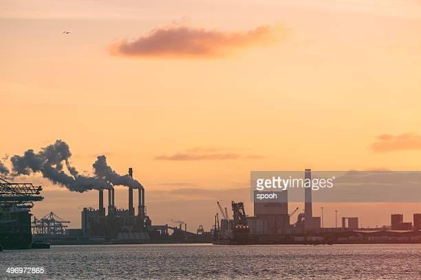 工業地区では、海岸沿いの街、ロッテルダム