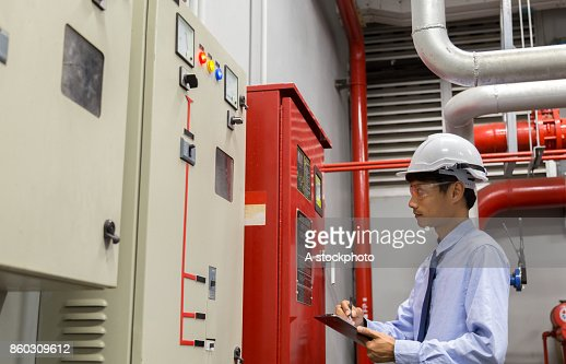 Industrial fire control system,Fire Alarm controller, Fire notifier, Anti fire. : Stock Photo