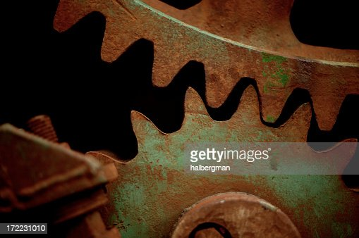 Industrial gears : Stock Photo