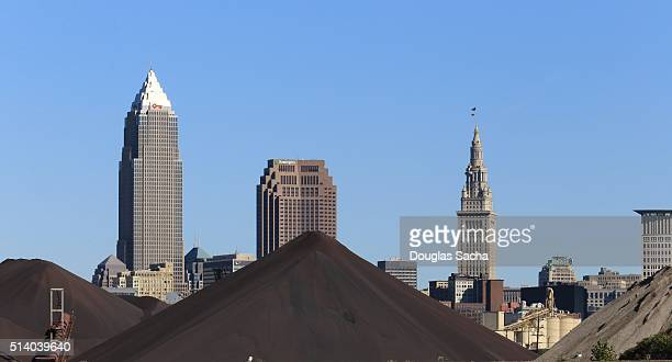 Industrial landscape of Cleveland, Ohio, USA