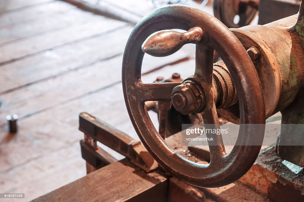 Industrial machines button : Foto de stock