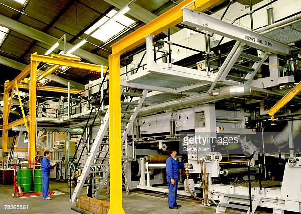 Industrial paper production plant