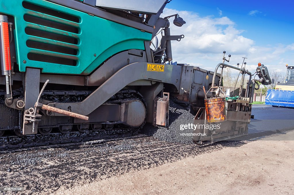 industrial pavement truck : Foto de stock