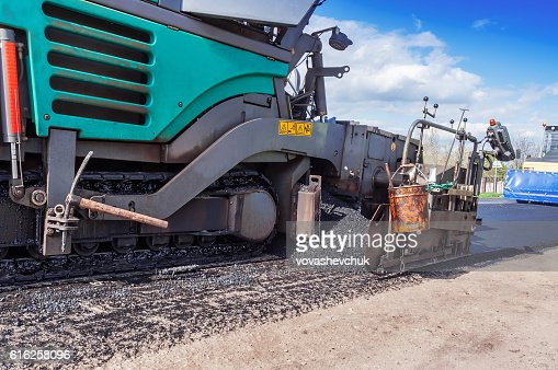 industrial pavement truck : Foto de stock