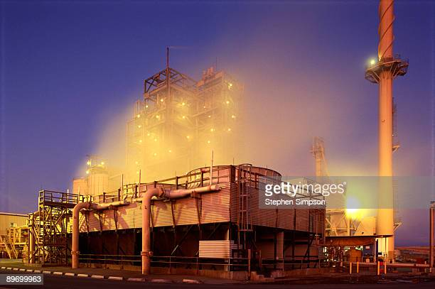 Industrial plant, glowing at night