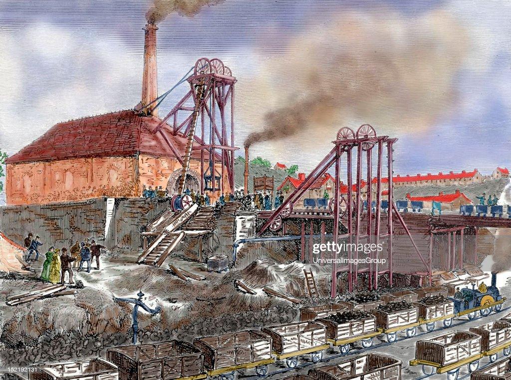 Industrial Revolution England Mining Nineteenthcentury engraving