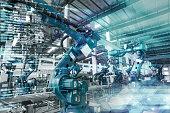 industrial robot in a workshop