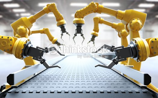 Industrial robotic arms : Stock Photo