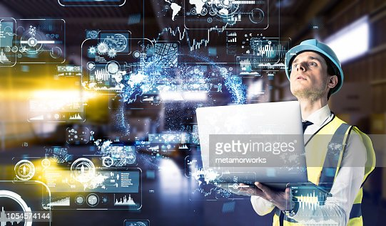 Industrial technology concept. : Stock Photo