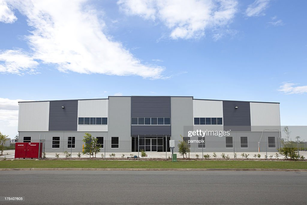 Industrial warehouse building stock photo getty images for Warehouse building design
