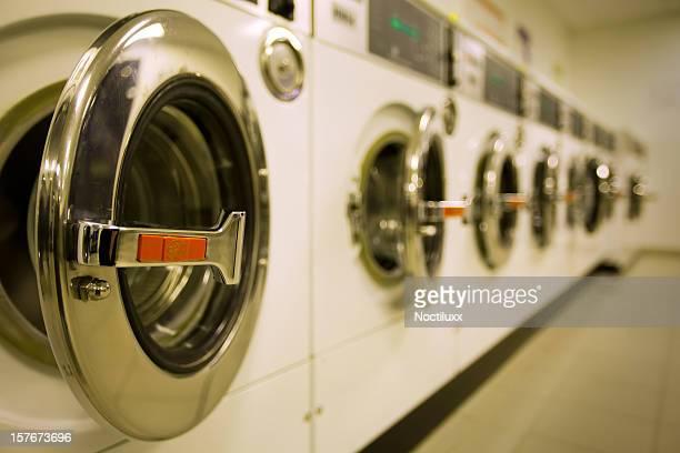 Industrial washers perspective macro