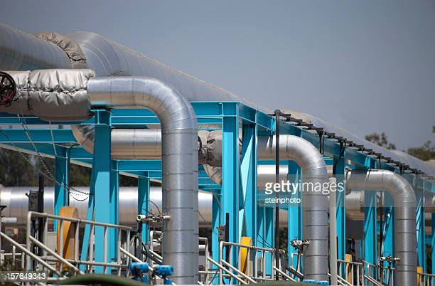 Industrial Water Treatment : Sewage treatment plant stock photos and pictures getty