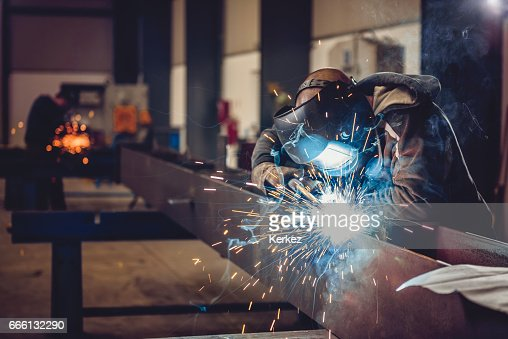 Industrial Welder With Torch : Photo