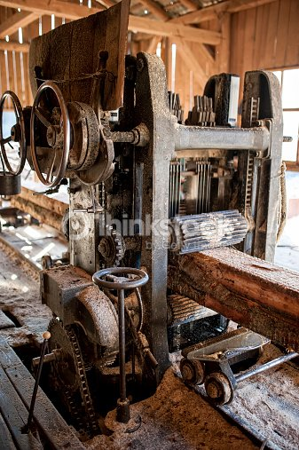 Industrial Wood Production Factory Sawmill Cutting Through