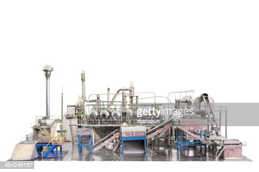 industrial zone steel pipelines stainless on white background wi : Stock Photo