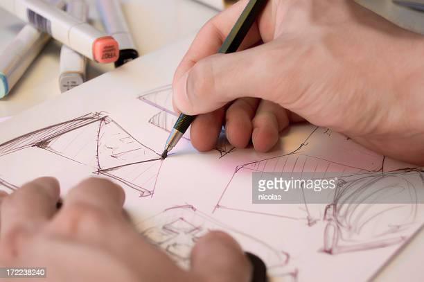 Industrial-designer scribbling