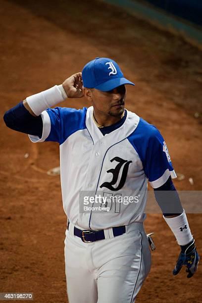 Industriales baseball player Yunieski Gourriel is seen on the field before the start of a game at El Latinoamericano stadium in Havana Cuba on...
