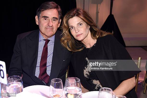 Industrialist Peter M Brant and model Stephanie Seymour attend the Food Bank Of New York City's Can Do Awards 2016 hosted by Mario Batali at Cipriani...