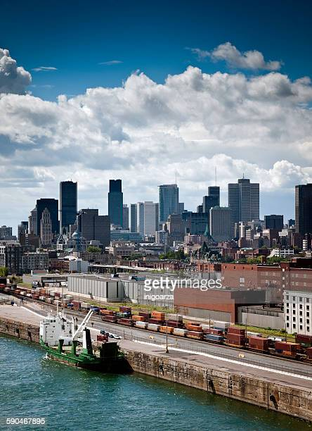 Industrialized area of the harbor, Montreal, Quebec, Canada